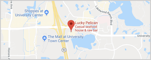 Lucky Pelican Bistro Map